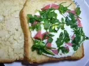 辣妈的爱心早餐—火腿面包